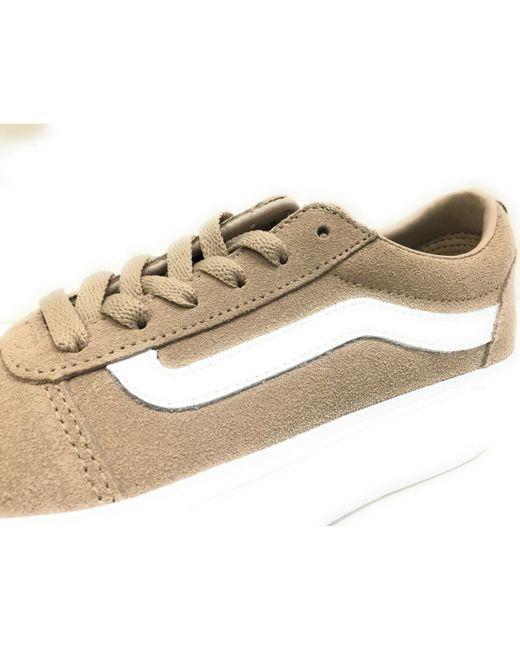 844fe1b805ea Vans Ward Platform Women s Shoes (trainers) In Brown in Brown - Lyst