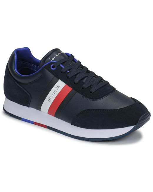 CORPORATE LEATHER FLAG RUNNER Chaussures Tommy Hilfiger pour homme en coloris Blue