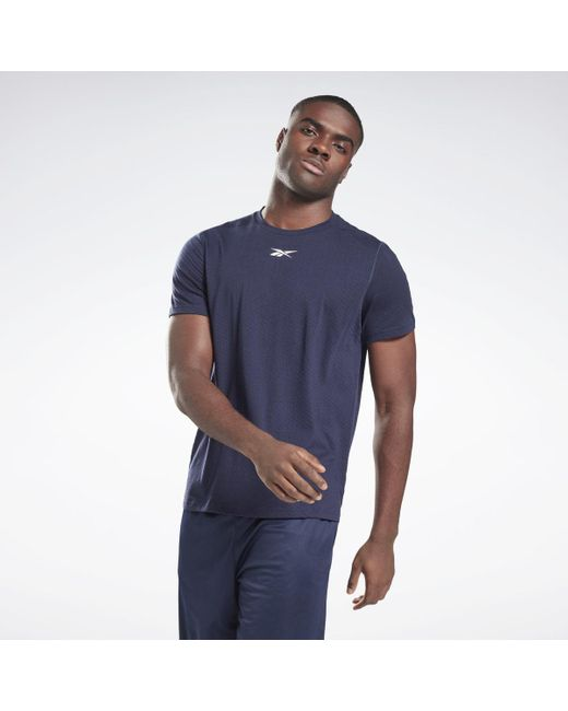 Camiseta Workout Ready Mesh Reebok de hombre de color Blue