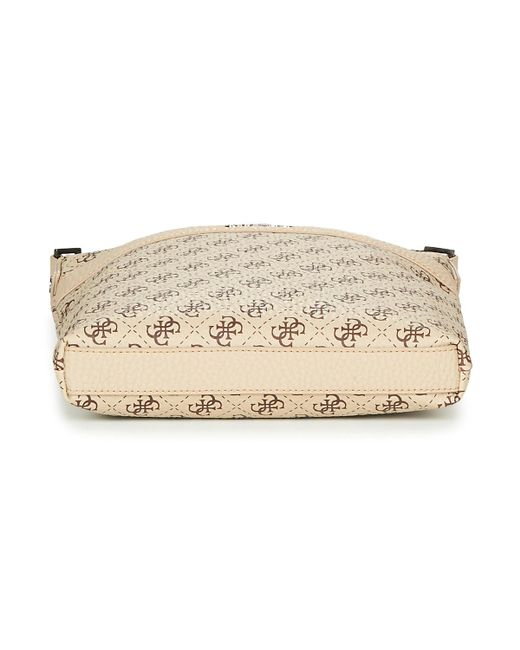 53ad58505c Guess City Logo Crossbody Men's Pouch In Beige in Natural for Men ...