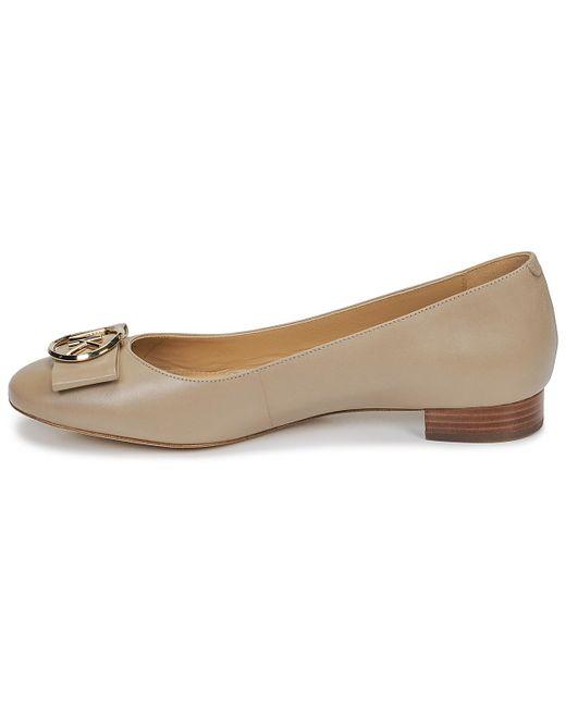 2bf9dffd9 ... MICHAEL Michael Kors - Natural Marsha Women's Shoes (pumps / Ballerinas)  In Beige ...