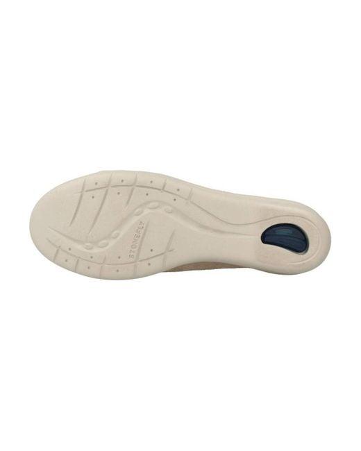 Stonefly Lage Sneakers Ebony 1 in het Natural