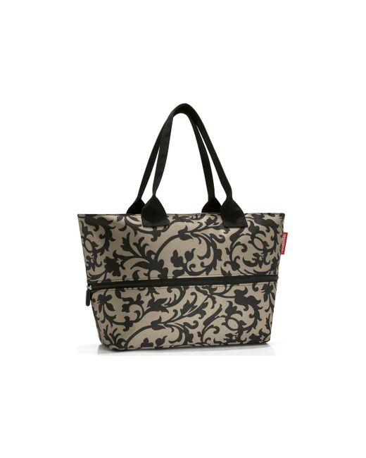 Sac Shopping ref_43488 baroque taupe Cabas Reisenthel en coloris Black