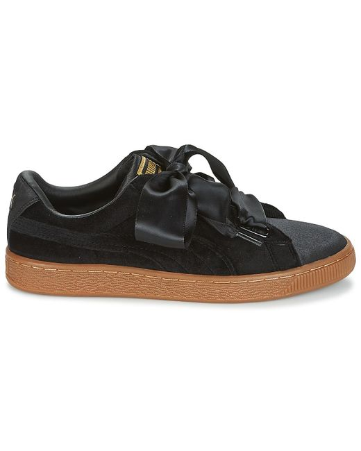 PUMA Lage Sneakers Basket Heart Vs W'n in het Black