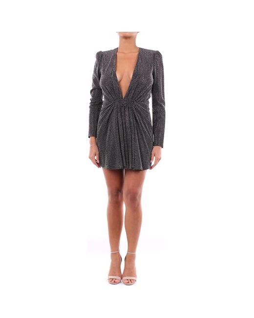 Robe courte 601143Y4A01 Saint Laurent en coloris Black
