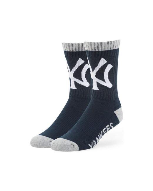 47 Brand | Mlb New York Yankees Bolt Socks - Navy Men's Stockings In Blue for Men | Lyst