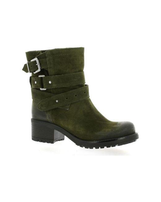 Boots cuir velours Bottines Pao en coloris Green