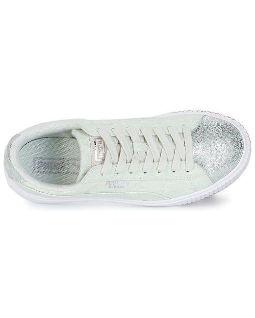 hot sale online 016d3 230e0 PUMA Basket Platform Canvas W's Women's Shoes (trainers) In ...
