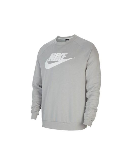 Nike Sweater Fleece Crew in het Gray voor heren