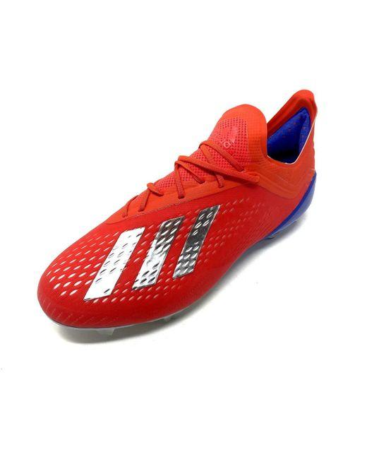 X 18.1 Fg Chaussures de foot adidas pour homme en coloris Rouge - Lyst