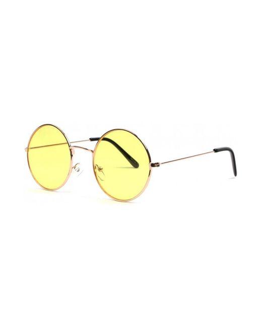 Lunettes soleil rondes jaunes et dorees Fashion Odala Lunettes de soleil Eye Wear en coloris Multicolor