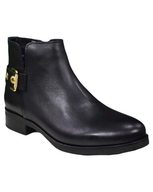 27f687b2d Bottines plates Tessa en cuir noire pour femme femmes Bottines en ...