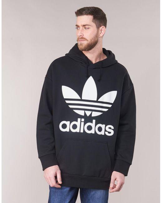adidas Tref Over Hood Men's Sweatshirt In Black for Men Lyst