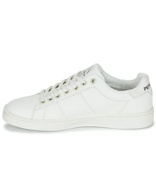 ... Pepe Jeans - White New Club Monocrome Shoes (trainers) - Lyst ... c3959afda7