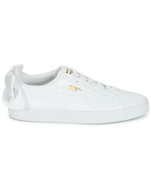 premium selection 7e7db 3a990 PUMA Wn Suede Bow Patent.white Women's Shoes (trainers) In ...
