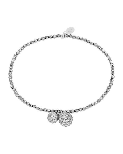 Bracelets Bracelet en Argent 925/1000 et Hématite Blanche Cleor en coloris White