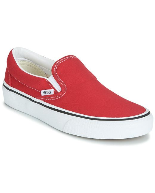 Vans Red Classic Slip-on Slip-ons (shoes)