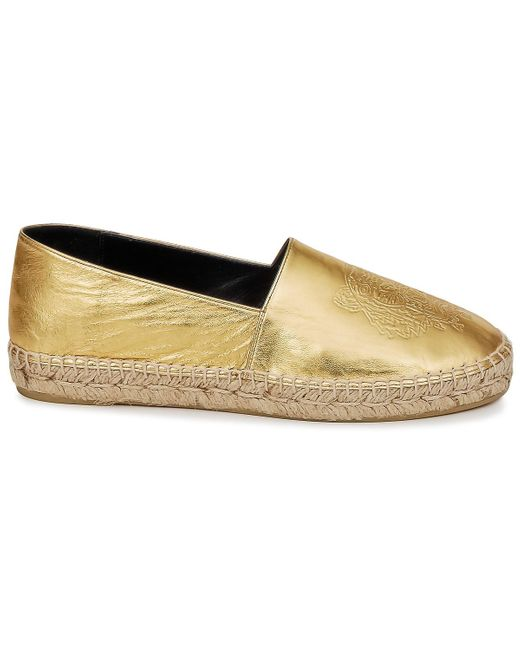 KENZO Espadrilles Tiger Metalic Synthetic Leather in het Metallic