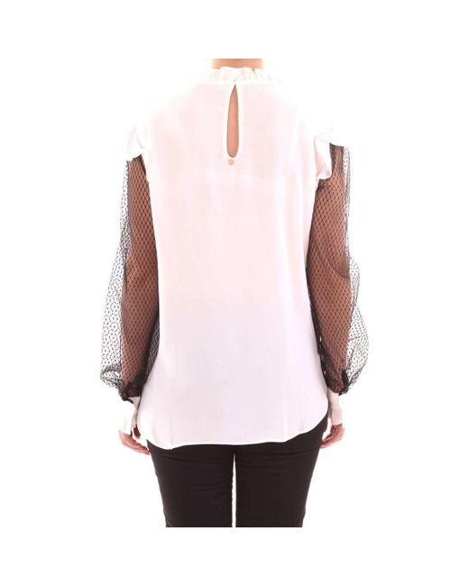 TP2362 Camicia PANNA di Twin Set in Natural
