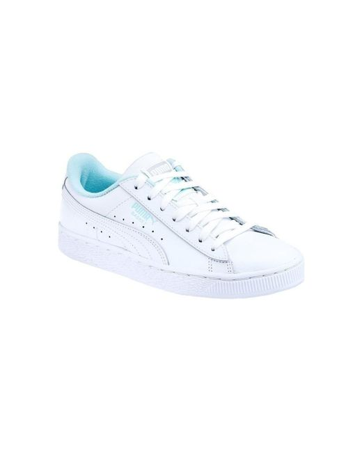 PUMA White Basket Classic Lfs Athl Shoes (trainers)