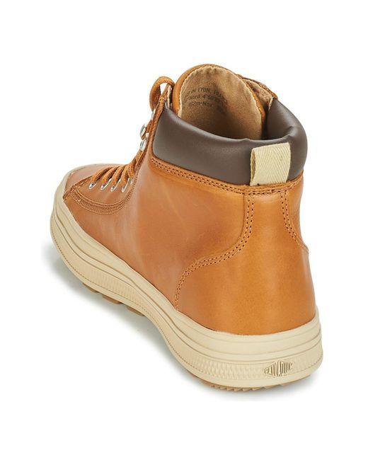 e8bcb83e46f ... Palladium - Sub Mid Cuff Men s Shoes (high-top Trainers) In Brown for  ...