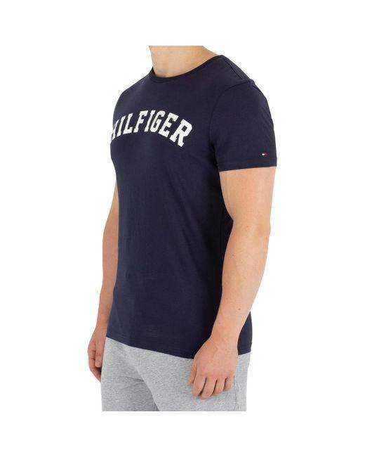 Blue Tommy Hilfiger Mens Arch Logo T-Shirt