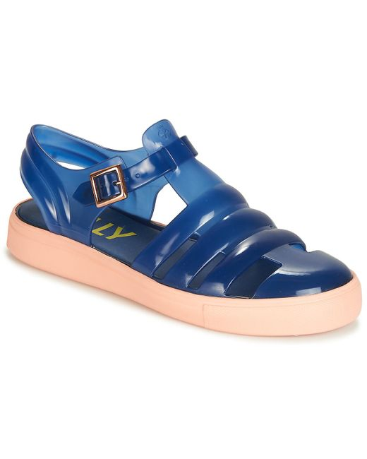 Lemon Jelly Blue Crystal Sandals