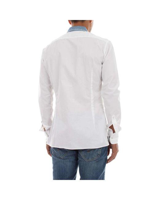 UC199 CF095U MATTY Chemise Dondup pour homme en coloris White