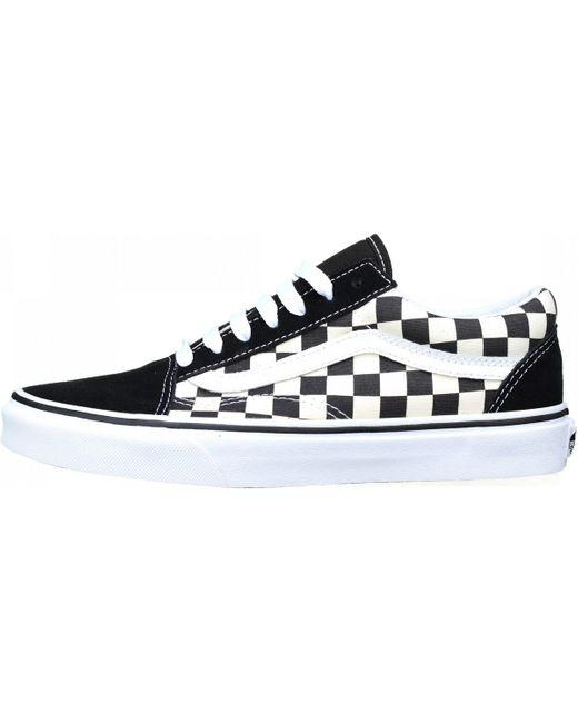 Basket à damiers hommes Chaussures en blanc Vans pour homme en ...