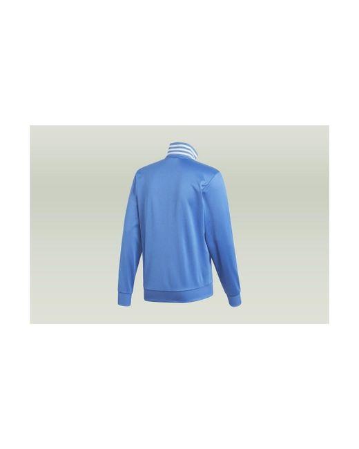 54e8016398b ... Adidas - Real Madrid 3stripes Track Jacket Men's Sweatshirt In Blue for  Men - Lyst
