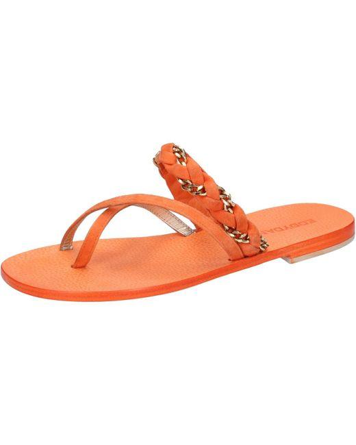 Sandales orange daim aw171 Sandales Eddy Daniele