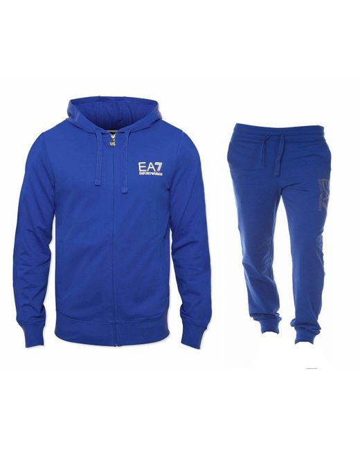 Emporio Armani | 3 Z Hooded Tracksuit Royal Blue for Men | Lyst