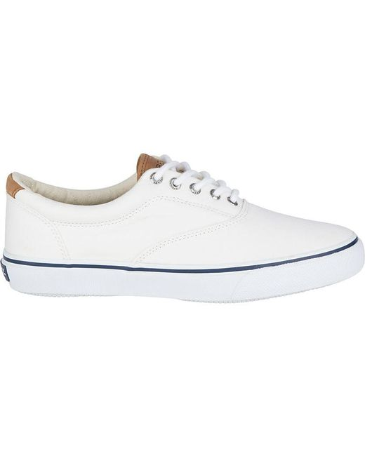 Sperry Top-Sider White Men's Striper Cvo Salt Washed Twill Sneaker for men
