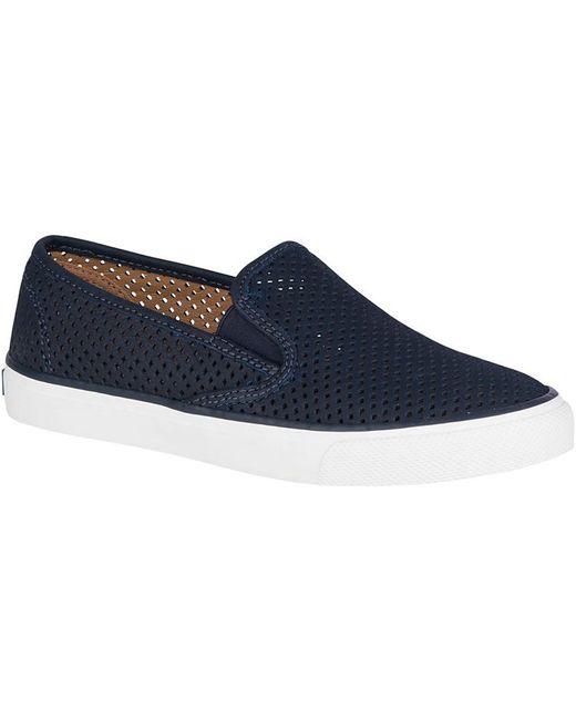 Sperry Women's Seaside Embossed Memory-Foam Slip-On Fashion Sneakers Women's Shoes UYmuFRc