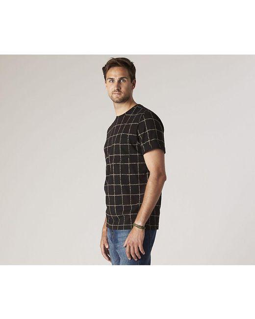 4969665e ... Sperry Top-Sider - Black Men's Faded Grid T-shirt for Men ...