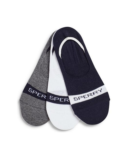 Sperry Top-Sider Blue Men's Signature Invisible Sock Liner 3-pack for men