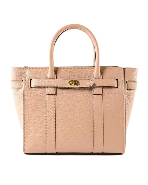 8e7fd08f56 Mulberry - Natural Mini Zip Bayswater Bag - Lyst ...