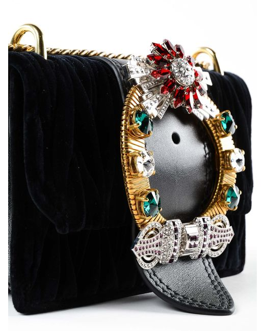 deda08c88439 ... Miu Miu - Black Miu Lady Matelassé Velvet Cross Body Bag - Lyst ...