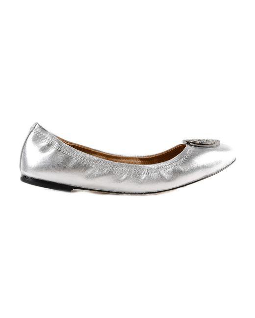 dbea7e450 Lyst - Tory Burch Liana Ballet Flat in Metallic - Save 72%