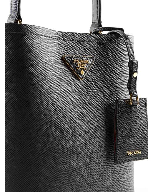 ec433fd34e81 ... Prada - Black Handbag Saffiano+city Calf - Lyst ...