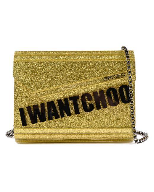 efe589f1e953 Lyst - Jimmy Choo I Want Choo Glitter Clutch in Metallic - Save ...