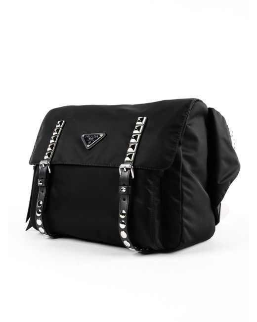 e6f786f2e0df ... Prada - Black Belt Bag New Vela - Lyst ...
