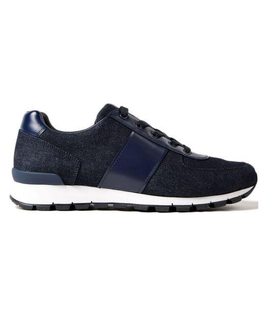 Prada - Blue Running Match Race Denim+vitello for Men - Lyst