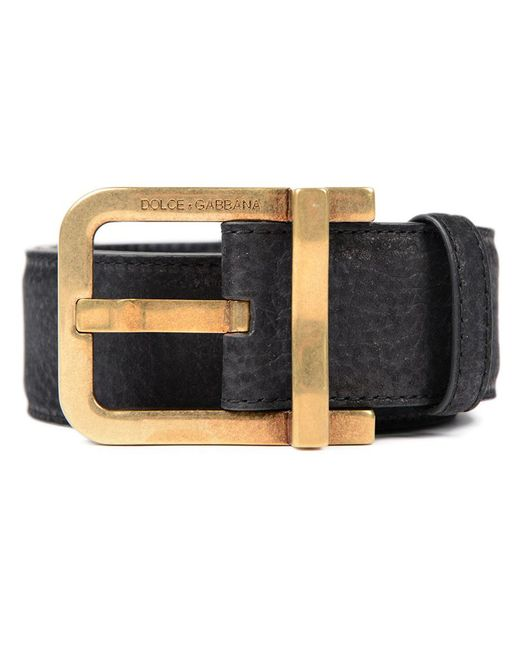 Dolce & Gabbana | Black Belt No Logo for Men | Lyst