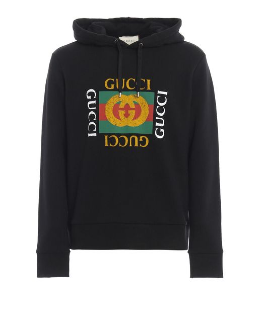 fd65a7ed Men's Black Cotton Sweatshirt With Logo