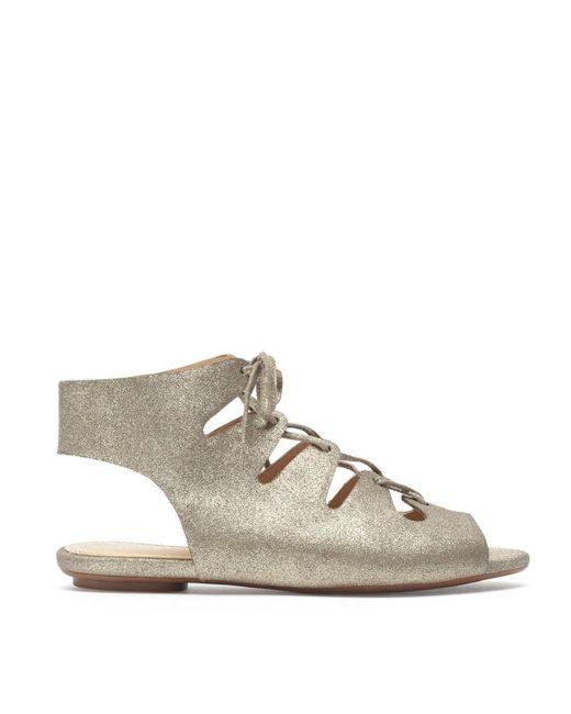 Splendid | Metallic Anna Lace Up Sandal | Lyst