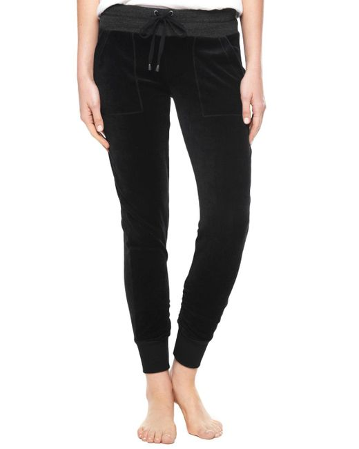 Splendid | Black Velour Active Skinny Jogger | Lyst
