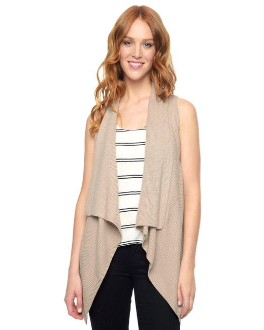 Splendid | Natural Sullivan Sweater Vest | Lyst