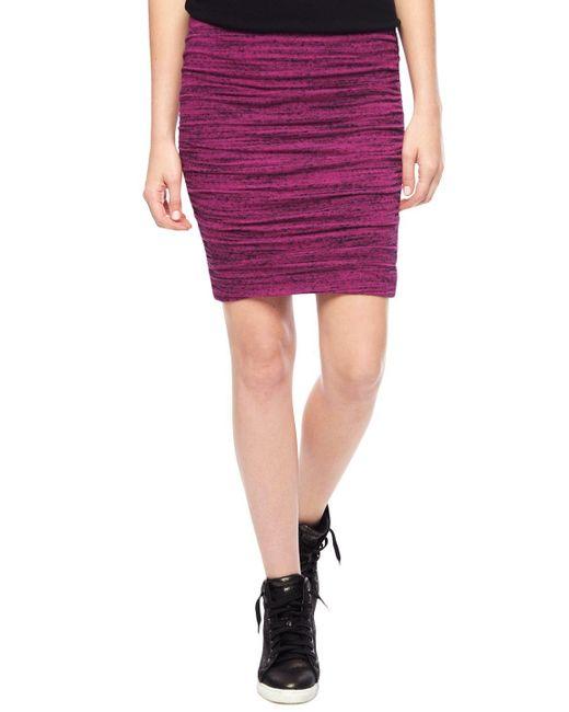 Splendid | Pink Brushed Triblend Pencil Skirt | Lyst