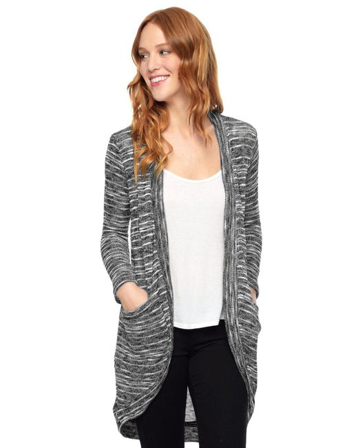 Splendid | Gray Upstate Circle Cardigan | Lyst